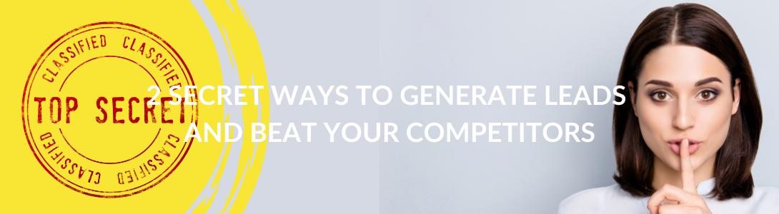 2 secret ways to generate sales leads