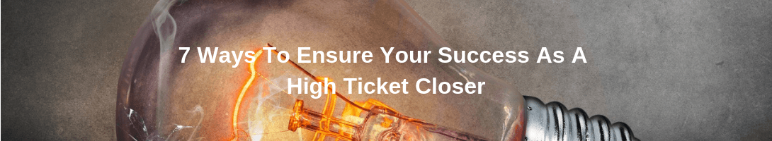 how to be successful at high ticket sales